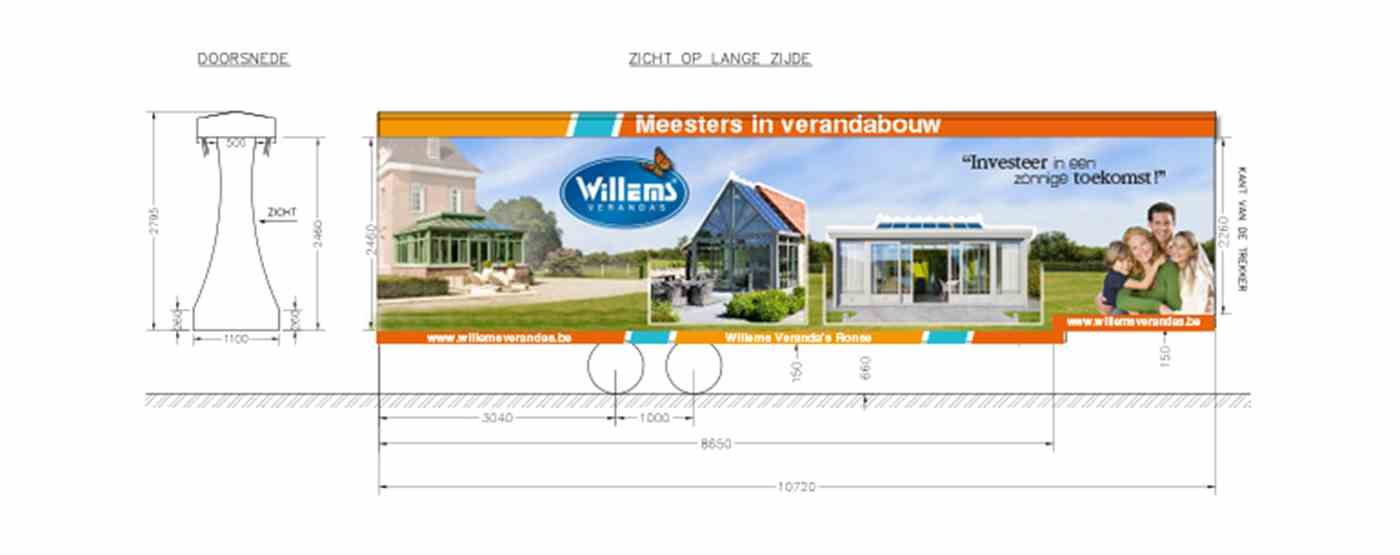 Willems publitrailer technical drawing