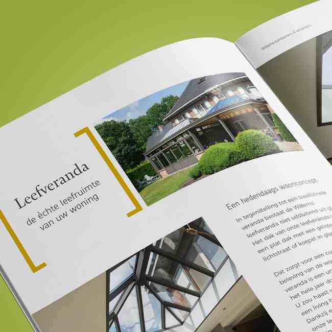Willems tuinkamers & veranda's corporate brochure detail