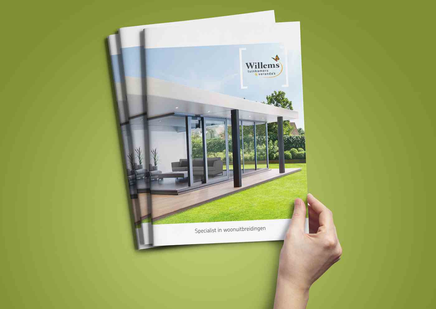 Willems tuinkamers & veranda's corporate brochure closed