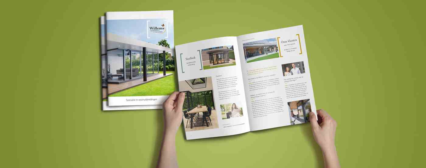 Willems tuinkamers & veranda's corporate brochure opened