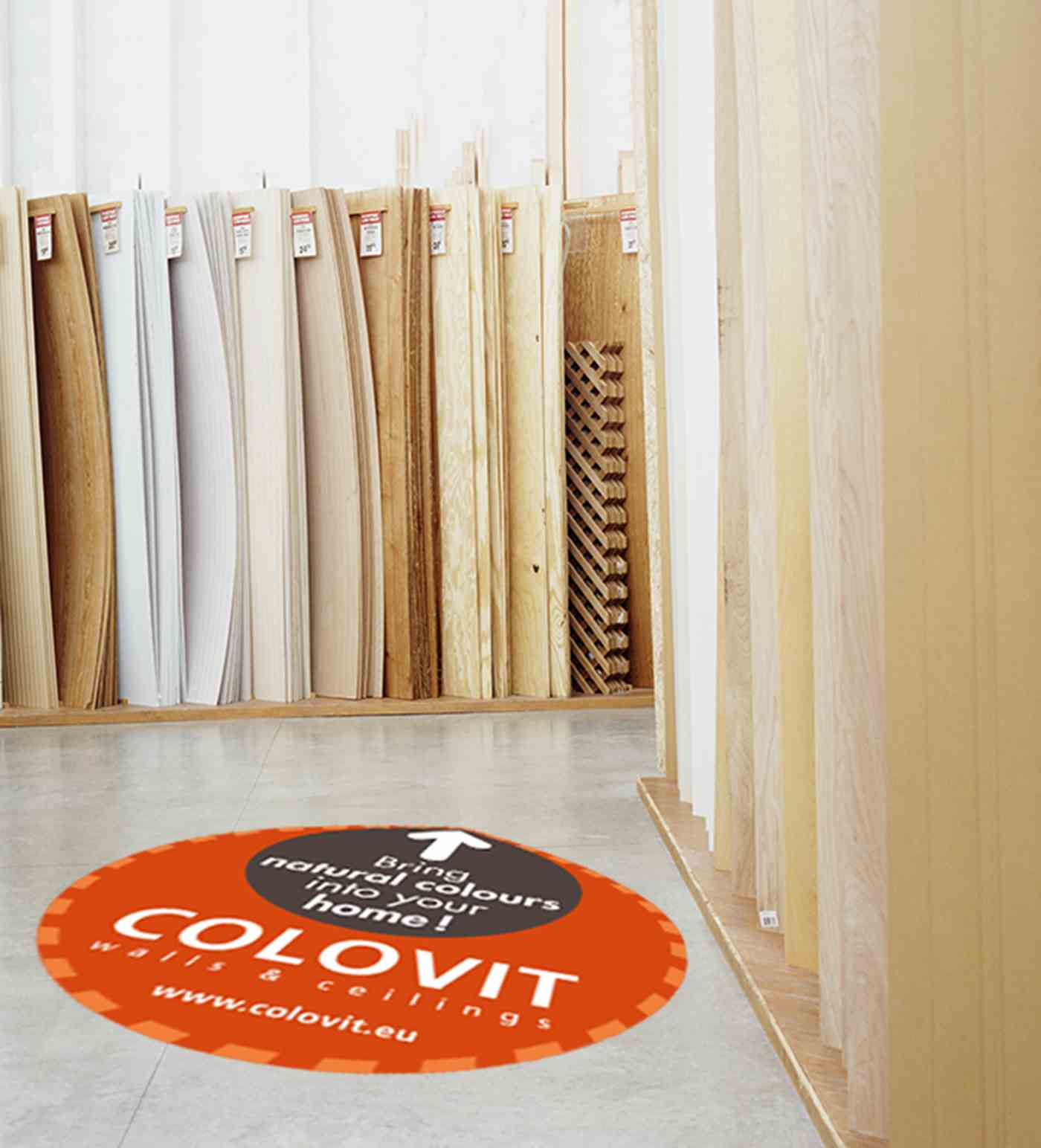 Colovit floorsticker
