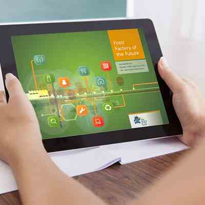 Food factory of the Future op tablet